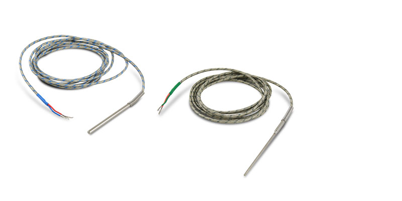 Type J and K thermocouples allow temperatures of up to 800 °C to be measured